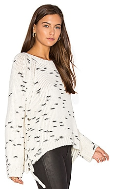 Juno Lace Up Sweater in Rocky Road