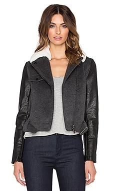 Russell Moto Jacket in Charcoal