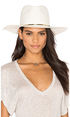 Begonia Wide Brimmed Panama Hat in Bleach