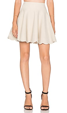 Scallop Hem Skirt in Ivory