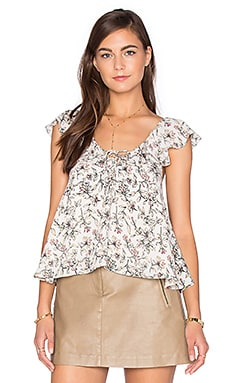 Sleeveless Floral Blouse in Vintage Floral