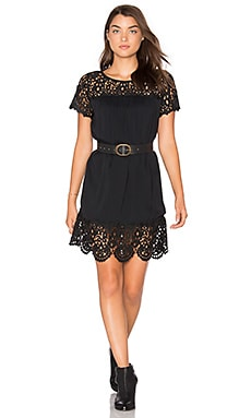 Lea Lace Dress in Caviar