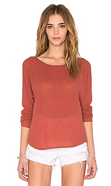 Margeaux Sweater in Burnt Terracotta