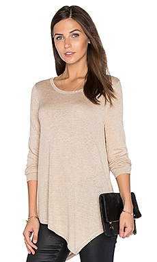 Tambrel Metallic Sweater in Dusty Pink Sand & Gold