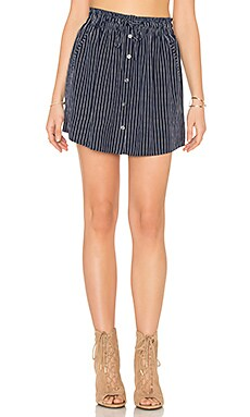 Wendolyn Silk Skirt in Dark Navy