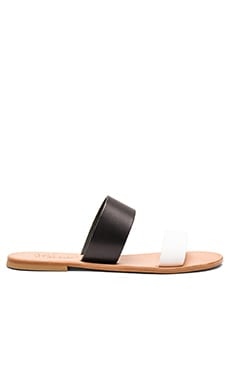 Sable Sandal in Black & White