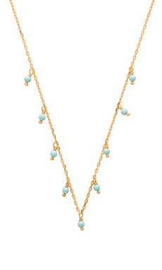 Turquoise Dangle Choker in Gold