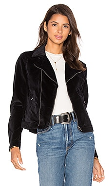 Vintage MC Velour Jacket in Black