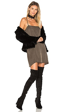 Cropped Rabbit Fur Jacket in Black