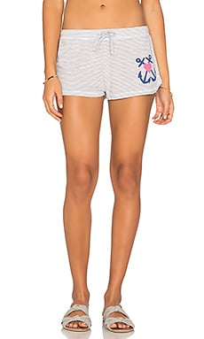 Anchor Heart Short in White & Grey