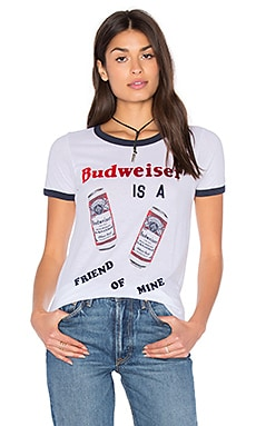 Budweiser Tee in Electric White & Cosmic