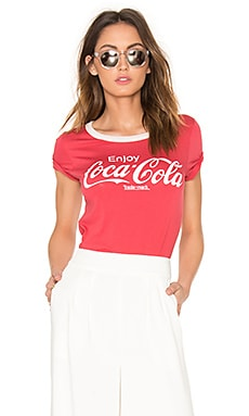 Coca Cola Tee in Rooster Red & Ivory