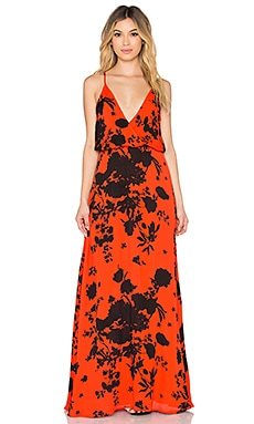 Lola Maxi Dress in Red rose