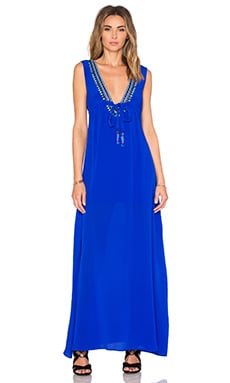 Cathy Beaded Maxi Dress in Royal
