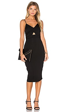 Noah Solid Dress in Black