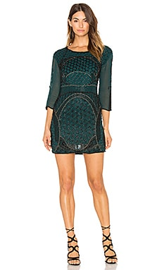 Beth Beaded Mini Dress in Verde