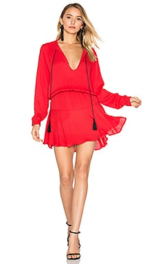 Pilar Solid Mini Dress in Red