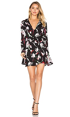 Pilar Print Mini Dress in Tulip