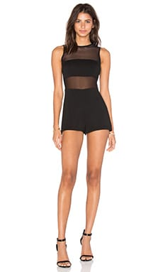 Stella Solid Romper in Black