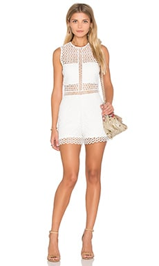 Felix Romper in White Crochet
