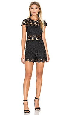 Madonna Crochet Romper in Black