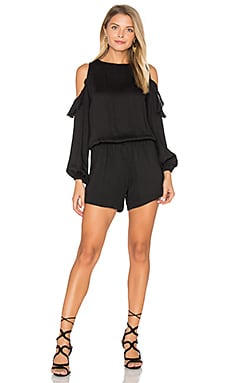 Issy Solid Romper in Black