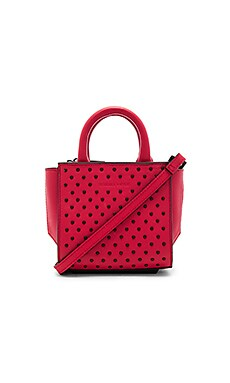 Brook Nano Studs Satchel Bag in Ruby Red
