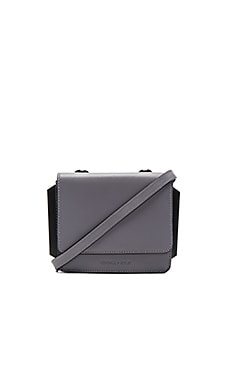 Baxter Crossbody in Cement Grey Smooth Leather