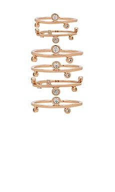 Alistar Stacked Ring Set in Rose Gold