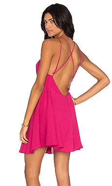 Cross Back Mini Dress in Peony