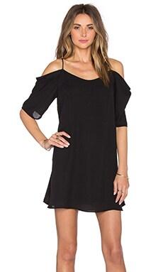 Off Shoulder Mini Dress in Black