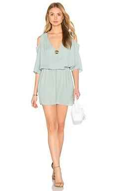 Open Shoulder 3/4 Sleeve Dress in Seaglass