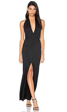 Open Halter Back Dress in Black