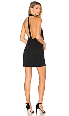 Cross Front Mini Dress in Black