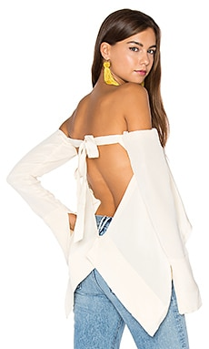 Suspended Backless Top in Skin