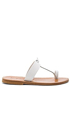 Ganges Sandal in Pul White