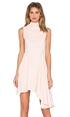 Break Even Mini Dress in Champagne Pink