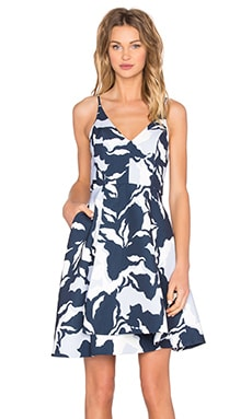 No Secrets Dress in Navy Camouflage Floral