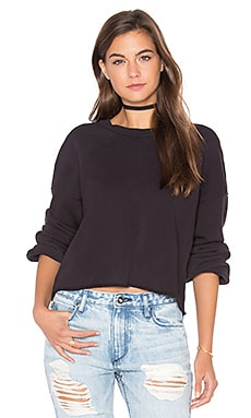 Cropped Pullover in Tar