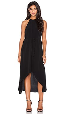 Viscose Crepe Celine Tulip Dress in Black