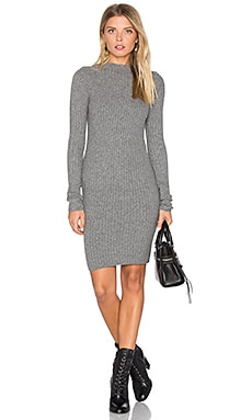 Melody Funnel Neck Dress in Charcoal