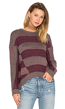 Syrah Pullover Sweater in Marlot Combo