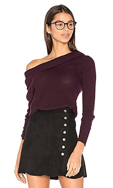 London Turtleneck Pullover in Pinot