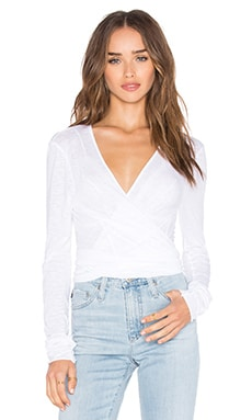 Orian Tie Front Top in White