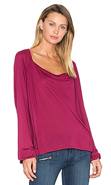 Aida Drape Tee in Oxblood