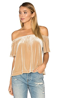 Tia Top in Sand Velvet