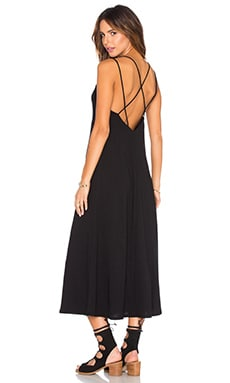 Cross Back Ankle Dress in Black