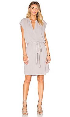 Sleevelees Shirt Dress in Stone