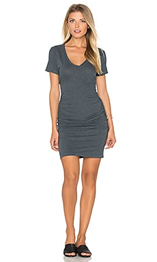 Ruched T Shirt Dress in Pacific
