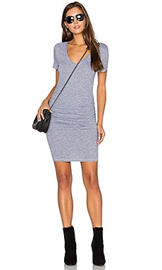 Ruched T Shirt Dress in Heather